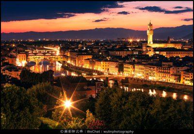 意大利佛罗伦萨《夜景》